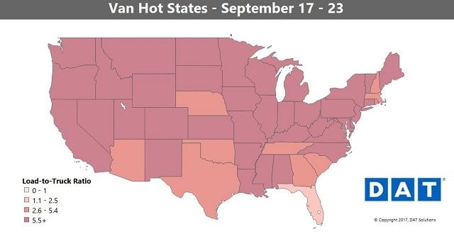Sunbelt Finance Van-Rates Spot Market Van Rates Up Industry News