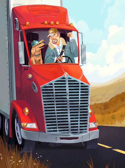 Modern Dog Trucker - Kim Smith